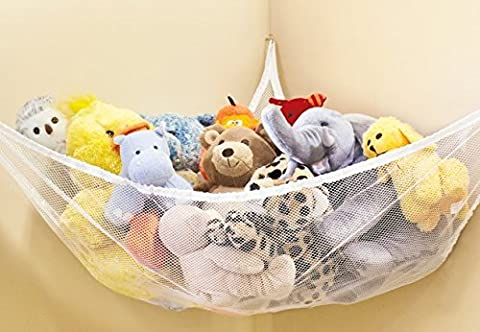 Large Hammock For Soft Toy Teddy Keep Baby/Children's Bedroom Tidy Mesh Storage Ideal For Nursery Play Corner Hammock