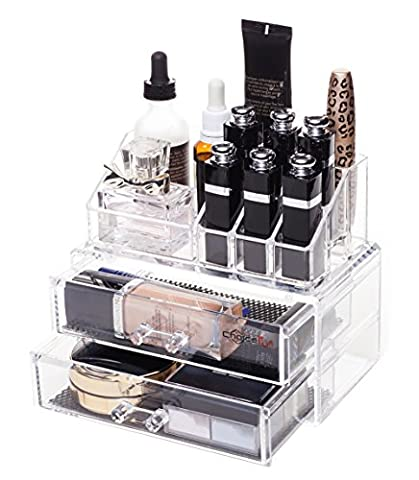 Choice Fun Detachable Acrylic Makeup Organiser Storage Case 2 Drawers
