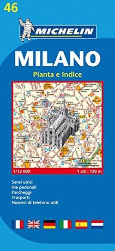 Plan Michelin Milan par Collectif Michelin