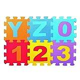 Delidraw Open Buy 36/Set bébé Mousse EVA Jouer Puzzle Tapis numéro entrelacé Exercice carrelage Pad Enfants Tapis Tapis