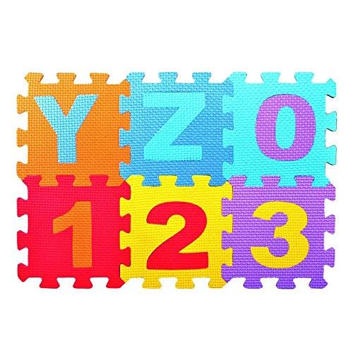 Coomir 36 Teile/Satz Baby Eva Schaum Spielen Puzzle Mat Anzahl Verriegelung Übung Fliesen Pad Kinder Boden Teppich Teppich (Anzahl Pad Kinder)