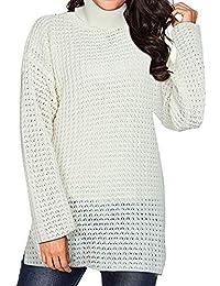 Tops de suéter de Manga Larga de Vestidos Color sólido de otoño/Invierno para Mujer