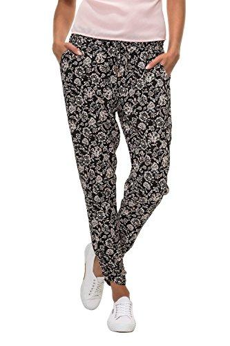 Hailys Damen Sommerhose Freizeithose Comfort Fit Strandhose Print (S, Black/Print 3)