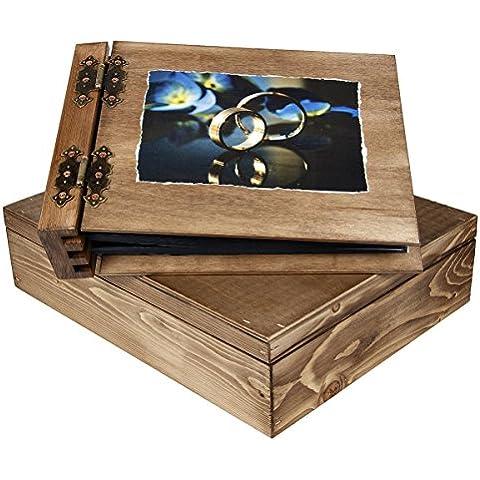 Álbum de fotos de boda (75hojas con caja de regalo de madera