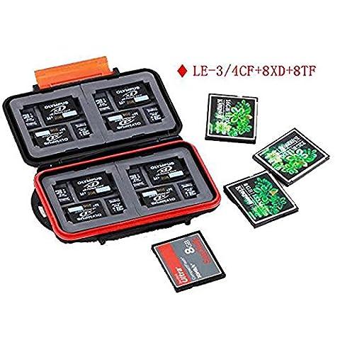 kalaixing® Étui étanche–étui de protection pour cartes mémoire SD SDHC