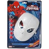 Ciao 28123–Máscara spiderman para colorear, rojo, talla única