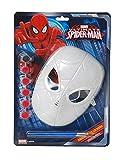 Ciao 28123 - Maschera Spider-Man da Colorare, Rosso, Taglia Unica