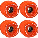 SHARKWHEEL Bambus Skateboards Shark Sidewinder Skateboard 78 A Räder (Set von 4), 70 mm, Orange