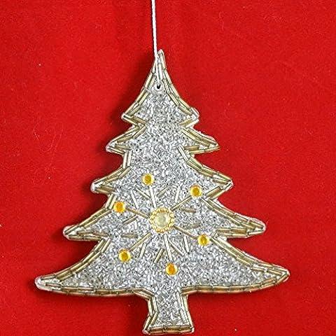 regalo decorativo árbol de cuentas la decoración del hogar de reyes magos pared metálica hecha a mano colgando adornos del árbol