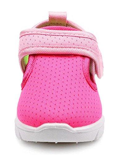 DADAWEN Respirant Mesh Sport Chaussure Unisexe Filles Garçons Bébés Rose