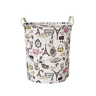 Doublehero Kleiderkorb, 44 * 35cm(42L) Folding Aufbewahrungsbox, Waterproof Canvas Wäsche Wäschekorb Ablagekorb-Robust und langlebig wasserdicht schmutzige Kleidung Korb (A)