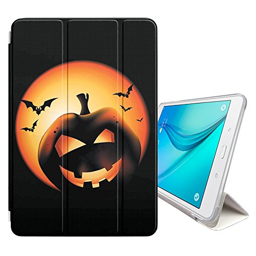 Graphic4You Halloween Allerheiligen Thema Kürbis Design Smart cover Hülle Dünn Tri-Fold Schlank Superleicht Ständer Cover Schutzhülle Tasche für Samsung Galaxy Tab S2 - 9.7