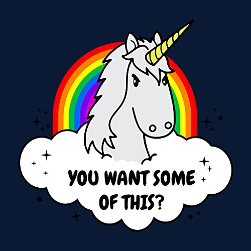 Angry Unicorn Want Some Of This Women's Vest Navy blue