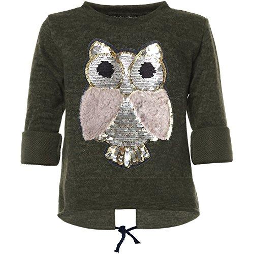 BEZLIT Mädchen Pullover Wende-Pailletten Sweatshirt 21584 Grün 152