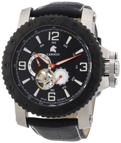 Carucci Self-Winding Watches Men's Watch XL Analogue Automatic Rubber CA2198Lb-Sl