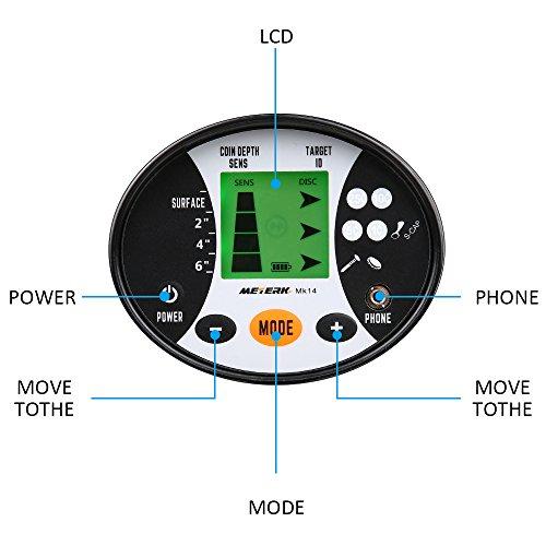 Détecteur de Métaux Meterk Recherche de haute précision pour le métal, l'argent, les bijoux Bobine Étanche Sensibilité réglable-Pour Adulte et Débutants avec écran LCD