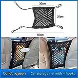 Nylon Auto Auto Sitz Lagerung Beutel Gepäck Veranstalter Halter Pet Isolation Net LKW-Aufbewahrung Gepäckhaken Mesh-Ladung Net Organizer Halter