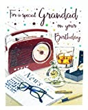 Happy Birthday Grußkarte Special Grandad Vers, Herren ihm Traditionelle Alter Stecker