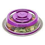 Vakuum Essen Sealer Frisch Abdeckung,Ewendy Universal Vakuumluftdichte Lebensmittel Siegelbehälter für Essen Küche