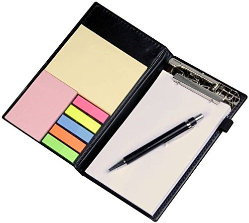 COI Note Pad/Memo Book with Sticky Notes & Clip Holder with Pen for Gifting