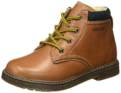 Geox Baby Jungen B Glimmer D Lauflernschuhe, Braun (Brandy/Dk NAVYC6A4P), 23 EU (Brandy Schuhe)