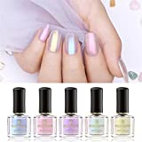 Born Pretty Nail Art Pearl Mermaid Polish Transparent Shell Glimmer Lacquer Shiny Shimmer Manicure Varnish 5 Colors