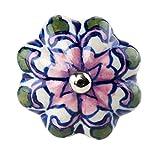 Butlers OPEN Möbelknopf Ornament - Möbelknopf | Türknauf | Keramik - für schöne Schränke & Kommoden Ø 5 cm