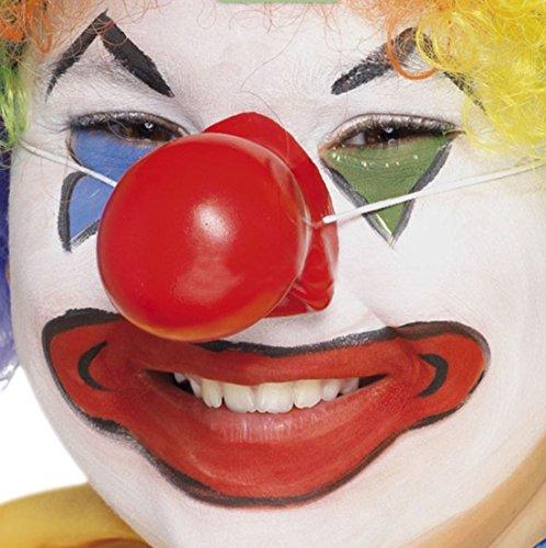 erdbeerclown- Unisex - Erwachsene Karnevalszubehör Clown Nase mit Geräusch , Rot