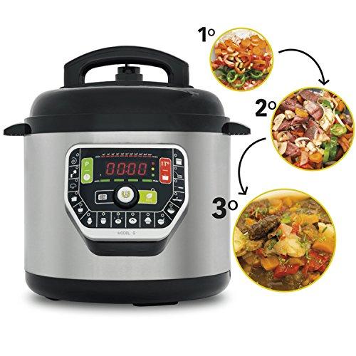 Ollas GM Programable: 6 litros, 19 modos de cocinar