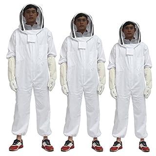 Alamor Imker Bienenzucht Schutzhülle Anzug Kittel Biene Hut Handschuhe Ganzkörper Verdickung Set-Xl