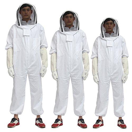 Alamor Apicultor apicultura protectora traje velo delantal Bee sombrero guantes cuerpo completo...