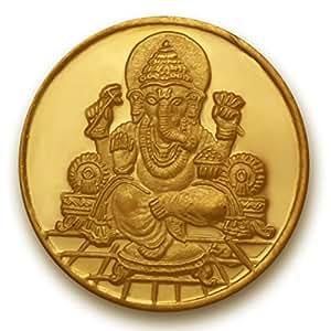 P.N.Gadgil Jewellers 1 grams 24k (995) Yellow Gold Ganesha Precious Coin