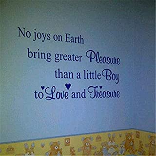 Stickers muraux Fleurs et Papillon No Joys On Earth Bring Greater Pleasure Than a Little boy to Love and Treasure for Nursery Kids Room Wall Sticker