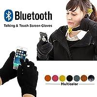 Bluetooth 3.0Invierno Calling Talking Guantes juguete de Touch de pantalla con altavoz Micrófono para iOS Iphone Android Unisex, morado - morado
