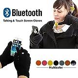 Bluetooth 3.0invernale chiamata parlando guanti mano Gesture touch screen con altoparlante microfono per iOS iPhone Android unisex