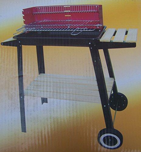 Grillwagen mit Windschutz und mit emaillierter Feuerschüssel