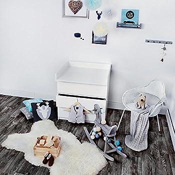 KAGU Tables à Langer 78 X 80 X 10 Cm. Blanc   Compatibile Avec Ikea