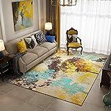DAMENGXIANG Multicolor Baum Abstrakt Teppich Für Wohnzimmer Couchtisch Schlafzimmer Rutschfeste Bodenmatte Wohnkultur Fuß Pad 80 × 160 cm