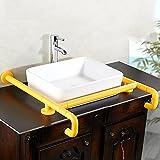 QFF Aufsatzwaschbecken Handlauf Nylon Beine Sicherheitsgeländer Waschbecken Armlehne Behinderte Behinderte Handlauf Bad WC Gelb