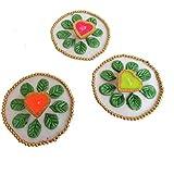 Unique Palette Designer Handmade 3Pcs Of Beautiful Diyas / Decorative Diwali Diya / Diya For Decoration / Diwali Gifts And Decoration(Set Of 3 Pcs ) /Clay Diya /