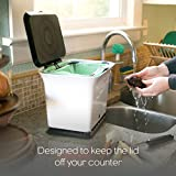 Full Circle Fresh Air Compost Collector, Green Slate