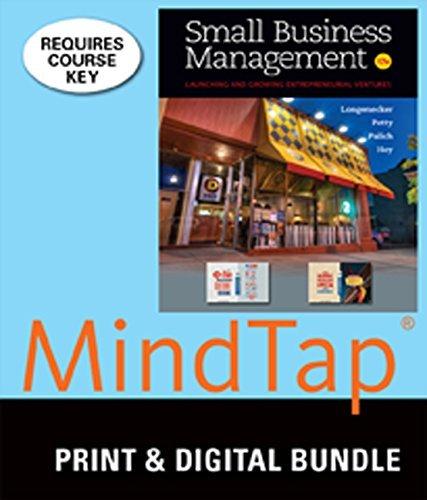 Bundle: Small Business Management, 17th + MindTap Management, 1 term (6 months) Printed Access Card by Justin G. Longenecker (2013-11-04) (Small Business Bundle)