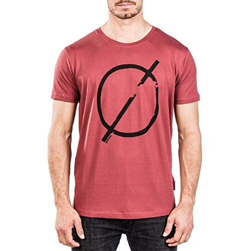 Mystic Herren T-Shirt Break Tee Sportshirt Freizeitshirt, Farbe:rot, Größe:L -