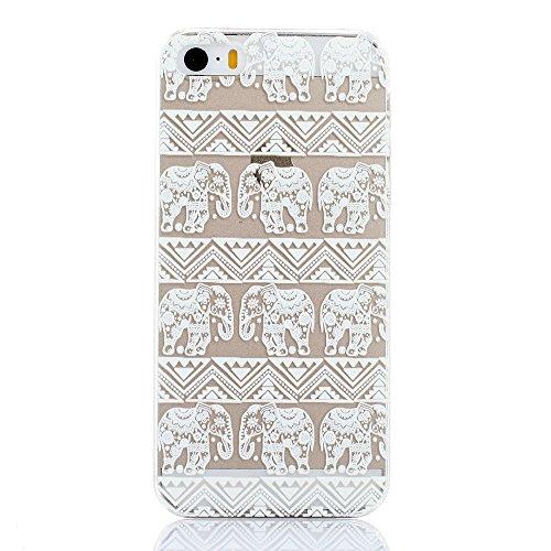 iPhone 6 Plus / 6S Plus Custodia Cover , Keyihan Henna Mandala Fiore Protettiva Caso in Dura Plastica per Apple iPhone 6 Plus e iPhone 6S Plus (Acchiappasogni Dream Catcher) Elefante