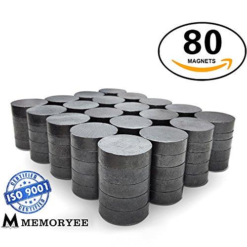 morye Kühlschrank-Magnete, rund, 18mm, 80Stück, (709), rund, für Kühlschrank, Whiteboard, Basteln, Dekoration, Stück