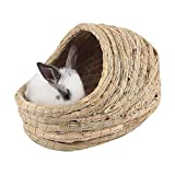Foldable Dog/Cat Bed,Handwoven Straw Soft Winter Warm Pet Nest,Durable Hamster Playing Sleeping Nest for Rabbit Guinea Pig