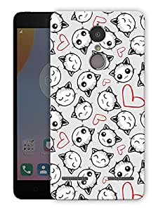 """Humor Gang cute kitty cats in love Printed Designer Mobile Back Cover For """"Lenovo k6"""" (3D, Matte Finish, Premium Quality, Protective Snap On Slim Hard Phone Case, Multi Color)"""