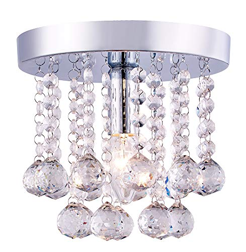 Kronleuchter Style 1-Light Small Flush Mount Kristallglas Deckenbeleuchtung von Happy Homewares -
