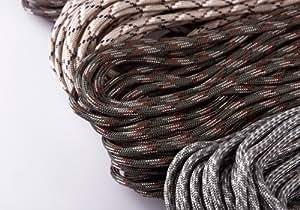 Buyincoins 1 pcs 100FT 7-Strand Camouflage Parachute Cords For Survival Paracord Bracelets Camo random colour