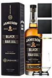 Jameson Select Reserve Black Barrel Small Batch 0,7 Liter+ 2 Glencairn Gläser und 2 Schiefer Glasuntersetzer 9,5 cm